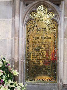 Jane Austen Memorial | Flickr - Photo Sharing! ---    A memorial near Jane Austen's grave inside Winchester Cathedral.