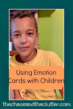 Using Emotion Cards with Children with Aspergers. This is really a good way of making children realize about their feelings and emotions.