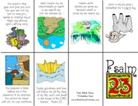 Bible Verse Minibooks - these are great for Sparks who are working in Psalm 23.  from BibleStoryPrintables.com