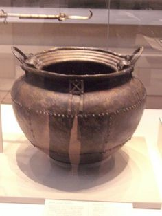 Celtic:  Celtic Iron Age cauldron, British Museum.