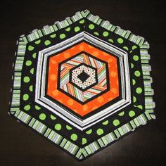 Spooky Spiderweb Quilt tutorial by Jackie from The Orange Room