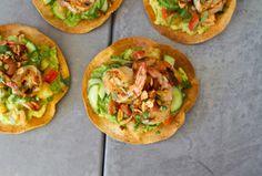 Thai shrimp tostadas