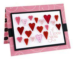 holiday, valentin card, card idea, button scrapbook, card valentin, valentine day cards, valentine cards, button embellish, valentin collag