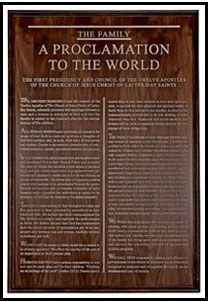 LDS Home Decor Family Proclamation LOVE