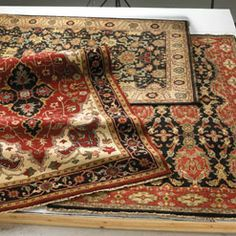 The Sovereign Fereghan rugs are hand knotted to perfection. They would look beautiful just about anywhere--with their graceful mix of hues, blues and floral. #Capel_Rugs