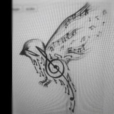 Songbird tattoo idea