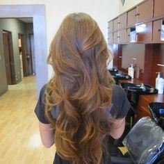 long layered hair cut | may have to try this my hair is long enough.