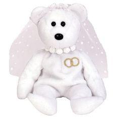 Mrs. the wedding bear ty beanie baby - retired