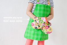 {lbg studio}: kid sized | play apron + oven mitts (with links to tutorials)
