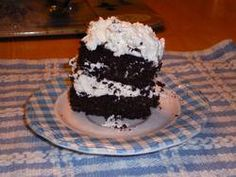 A dense chocolate cake. Makes a nice layer cake (shown with Whipped Cream Frosting). 2 cup pecans 1/3 cup cocoa 1 teaspoon baking powder 1/4 teaspoon salt 1/4 cup erythritol 4 whole eggs 1/2 cup butter 1 teaspoon vanilla 1 cup sugar equivalence 1/2 cup water How To Prepare: Heat oven to 350 degrees F Number of Servings: 12 servings Calories: 237 • Total Fat: 23.3 g • Sodium: 114.4 mg •  Total Carbs: 6.0 g • Fiber: 2.9 g • Protein: 4.7 g