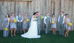 OUR WEDDING!!! I never thought that I would be on Pinterest! Gray and Yellow Wedding