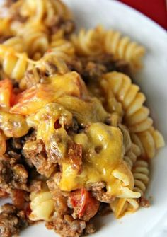 5-Star Cheeseburger Casserole. I think you'll love this easy ground beef recipe. Not only is it quick and easy, but it's also low in fat and calories.
