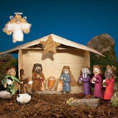 Homemade nativity scene!