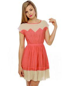 Great Apex-tations Coral Dress.