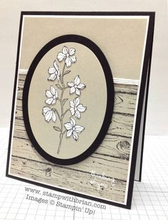 Peaceful Petals, Sweetly Framed, Hardwood, Stampin' Up!, Brian King