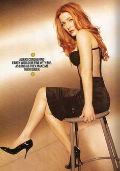 redhead Gillian Anderson