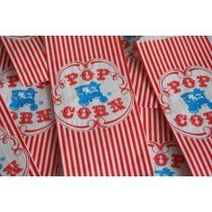 My Little Party Blog: Fiesta Erase una vez el Circo! Bolsitas de papel popcorn. My Little Party Esenciales Bolsas Kraft y de Papel