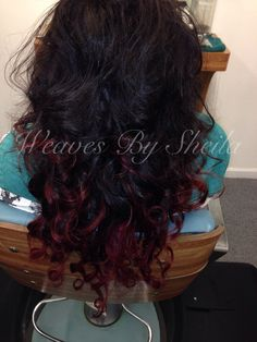 Deep. Cranberry. Ombre. On. Sew. In. Weave. Weaving. Weaved. Extensions.