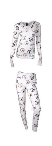 Pittsburgh Steelers Women's Uptown Longsleeve Henley Sleep Set