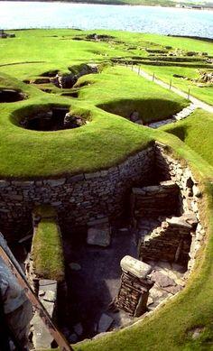 Prehistoric Archaeological Site in Shetland Scotland