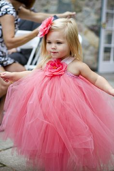 Cutest Flower Girl of all time. Gorgeous DIY dress made by her mother. We're pretty sure she used ALL THE TULLE.  Stephanie and Daniel by eatpomegranate, via Flickr