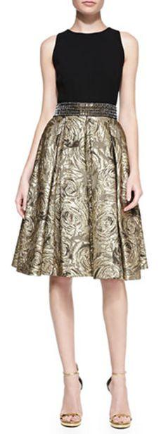 Gorgeous two-tone party dress