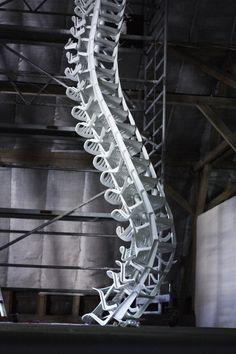 loeschner rückgrat, chairs, art urbano, bert loeschner, stackabl chair, spine stackabl