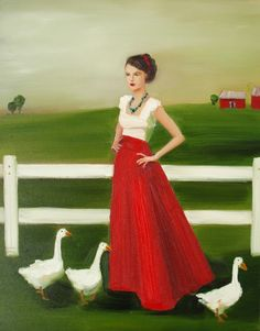 'Indira Visits the Countryside', from Janet Hill Studios.