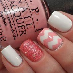 spring nails, nailart designs, nail designs, chevron pattern, nail art designs crystals, nail arts, pink nails chevron, nail nail, chevron nails