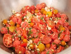 Watermelon and Tomato Salad, Wholeliving.com