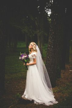 // wedding dressses, lace wedding dresses, weddings, brides, forest wedding, bouquets, the dress, veil, flowers