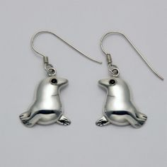 Seal Earrings with Onyx Eyes at theBIGzoo.com, an animal-themed store established in August 2000.