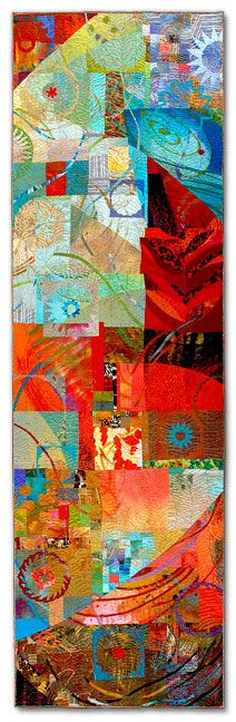 "Sue Benner Quilt - ""Walking ThroughTime IV"""
