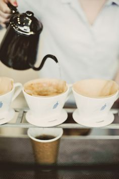 Blue Bottle pour over coffee