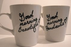Personalize your own coffee mugs. All you need is a sharpie, dollar store coffee mug and bake at 350 degrees for 30 minutes.