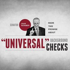 "On January 30, 2013, Sen. Chuck Schumer promised that universal background checks wouldn't create a gun registry. Yet just 13 days later, as Schumer was discussing gun control proposals, he stated, ""the one which I've been pushing, which is universal registration."" It couldn't be any clearer — when a politician says ""universal background checks,"" what they actually mean is ""universal registration."" Sign up for Stand and Fight updates at: www.nrastandandfight.com"