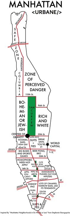 Annoyingly Somewhat Accurate NYC Map