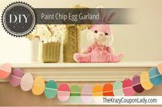 DIY Paint Chip Egg Garland