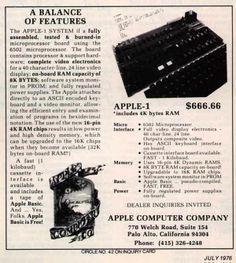 Earliest Apple Ad I've seen. 1970's