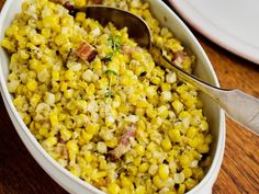 Creamed Corn with Bacon  on Down-Home Comfort on Food Network