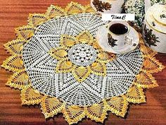 Free Shaded Colors Pineapple Crochet Doily Pattern