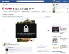 McAfee announces a new Facebook app called Social Protection that protects your photos from being shared without your permission http://cnet.co/M6X4g5