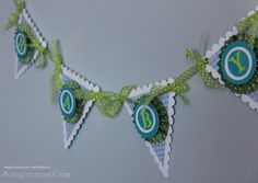 baby banner with pin wheel rosette