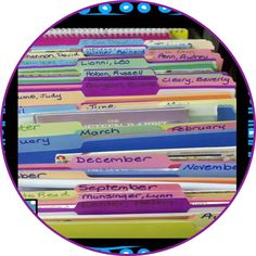 Classroom Organization ~ Read Alouds By Month & Author!