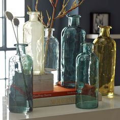 Recycled glass jugs...