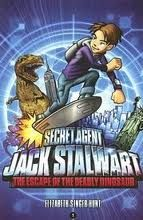 I have people ask me quite often about beginning chapter books for boys that are appropriate for the early elementary years. There are so many great ones out there and Jack Stalwart is one of my all-time favorites. Jack is a secret agent/spy who travels the globe looking for his older brother Max who is missing while also fighting crime along the way.