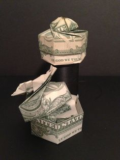 How to Fold+Dollar/any+Bill+Into+a+Box+W/+Lid+-+Origami