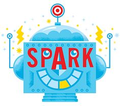 Spark logo for Target's Spark Speaker Series by Tad Carpenter (click it, it moves!)