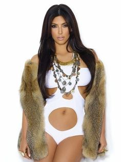Clothing :: Swimwear :: 'Lush' Keva J White Cut Out Swimsuit as seen on Kim Kardashian - Celeb Boutique - Celebrity Style At High Street Prices| Bodycon Dresses | Bandage Dresses | Party Dresses