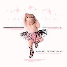 Ballerina, baby art ~ By Moffatt Photography